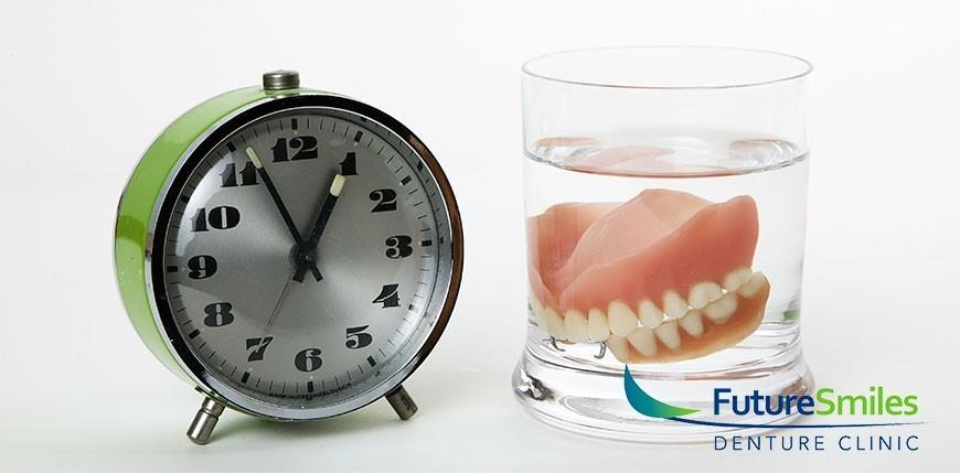 soak denture overnight